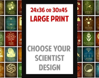 Large Science Art Print, Science Gift, Huge Wall Art, Science Teacher Gift, Science Poster, Physics Gift, Science Decor, Educational Poster