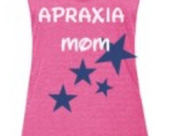 Apraxia Mom Shirt, Apraxia Tank Top Apraxia Awareness Momma Bear Mama Bear