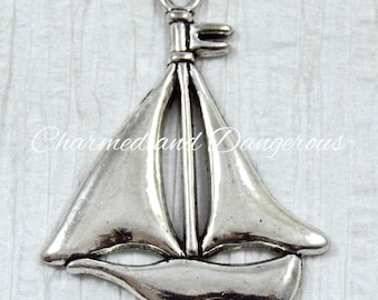 Pewter Sailboat pendant (P22)