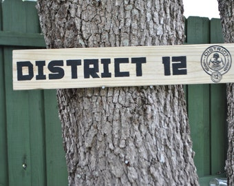 Hunger Games District Outdoor Yard Sign
