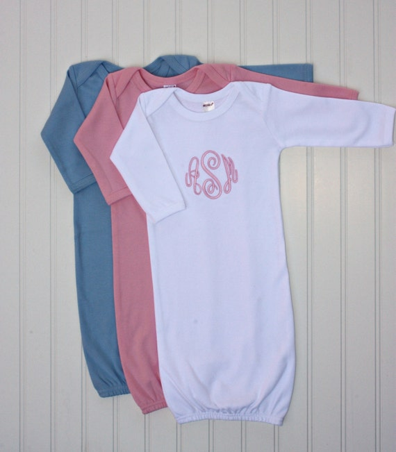 Items similar to Personalized Embroidered Monogrammed Newborn Infant ...