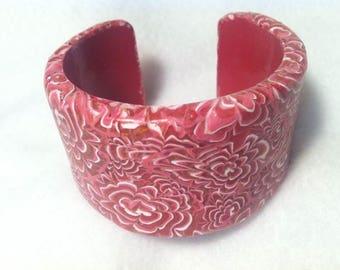Extra Wide Chrysanthemum Cuff Bracelet