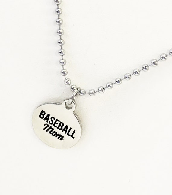 Baseball Mom Necklace, Baseball Mom Gifts, Baseball Mom Jewelry, Necklace Gift For Mom, Mother's Day Gift, Proud Baseball Mom Necklace