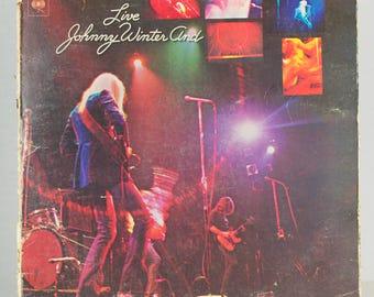 Live Johnny Winter And 1971 CBS Columbia Records Blues Electric Rock Original Vintage Vinyl Record Album LP