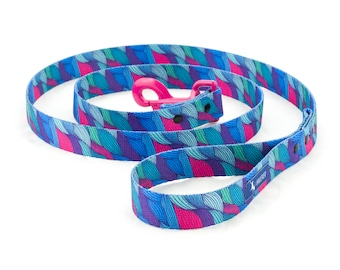 Dog leash,  WAVES  abstract pattern, waves, design fashion leash