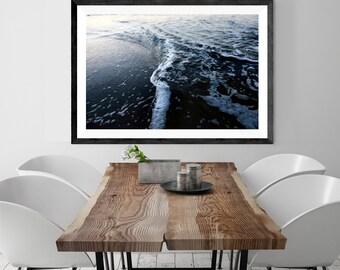 beach photography // beach art print // abstract blue ocean //  beach house modern, minimalist photography print - photograph art print