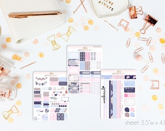 Little One MINI Weekly Kit // 130+ Matte Planner Stickers // Perfect for your Pocket, Personal Planner // WKM1060