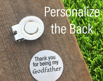 Godfather Gift Godfather Golf Ball Marker Thank you for Being My Godfather Godparent Godparent Gift Gift For Godfather Communion Dedication
