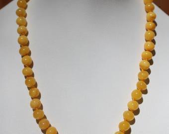"Baltic Amber Jewelry Antique Butterscotch Necklace Baroque Beads Yolk 16.1"" 11.1 gram"