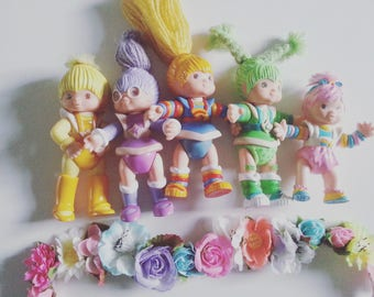 Vintage, Baby Brite, Rainbow Brite, 80s , 1980s, Shy Violet, Hallmark cards, toys, poseable, figure, 10cm, by NewellsJewels on etsy