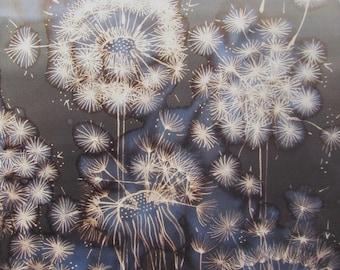 Dandelions at Dusk Original Painting