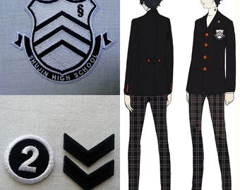 Full Shujin High School Uniform Set Patches Persona 5 Inspired Cosplay Costume Patch Set