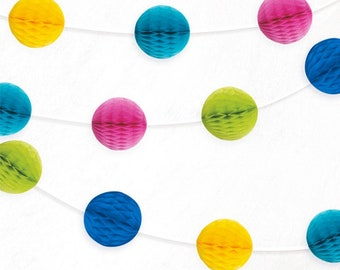 Multicoloured Honeycomb Garland,Party decoration