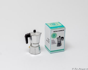 1:12 Scale Italian Espresso Coffee Pot