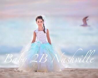 Beach Dress Wedding Dress Flower Girl Dress Tulle Dress Wedding Dress Party Dress Birthday Dress Toddler Tutu Dress Girls Dress