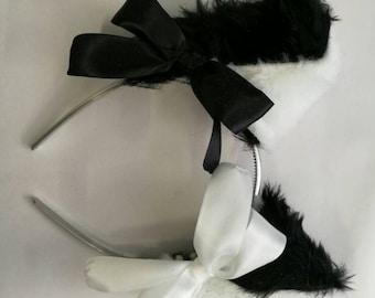Cat Ears (White & Black)