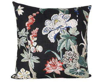 Nymphaea Night designer pillow covers  Made to Order - Schumacher