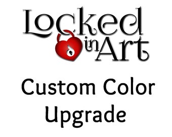 Upgrade to custom color for Locked In Art cremation memorial jewelry.