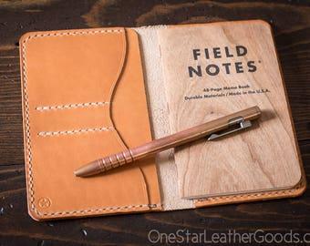 "The ""Park Sloper No Pen,"" Field Notes wallet, Horween leather - chestnut Dublin / tan"