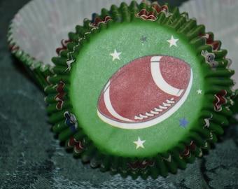 75 Football Standard Cupcake Party Liners/Cupcake Liners/Football Cupcake Liners/Cupcake/Liners/Football Cupcake Liners