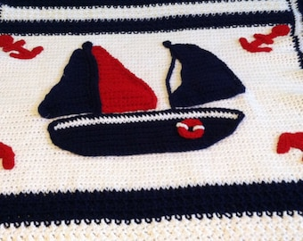 Made to Order,design your own unique baby afghan - whales,trains, owls, bears, fish,butterflies,  sailboats,  flowers, your choice