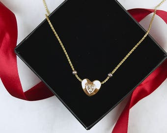 "The ""Adeline"": 14K Gold Heart Pendant Necklace"