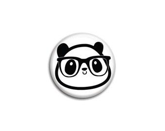 Diego the Nerdy Panda Pinback Button