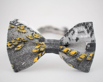 Yellow Cab Bow Tie New York Taxi Bow Tie Gray Bow Tie for Men Bow Tie for Driver NYC Bow Tie Gift for Men City Bow Tie Taxi Driver Gift