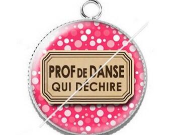 Pendant cabochon resin for a dance teacher 11