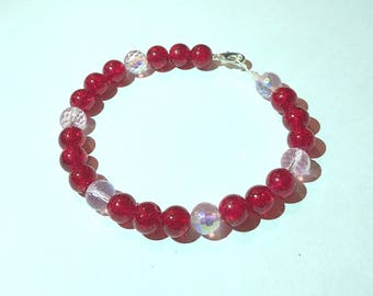 Red and pink Valentine's Day bracelet