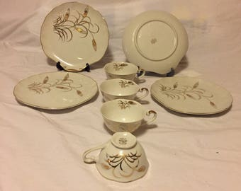 Hand Panted Lefton Luncheon Set