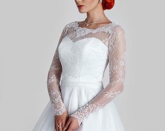 French Lace Bridal Bolero