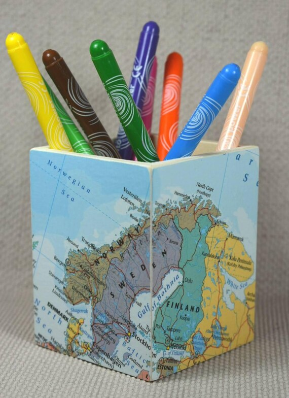 Custom world map pencil pot mothers day wanderlust custom world map pencil pot mothers day wanderlust gift pencil holder desk storage desk tidy map theme map gift free gift wrapping gumiabroncs Image collections