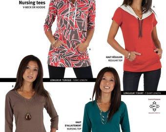 Jalie 3132 - Nursing and Regular Tees and Tunics / 17 Sizes / Adult
