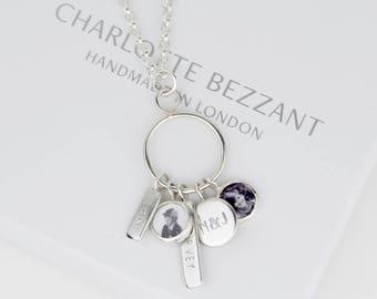 Handmade Solid silver keepsake necklace.