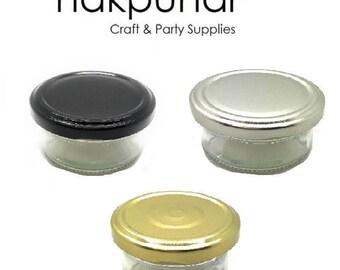 2 oz Small Mason Jar with Lid (70 ml )