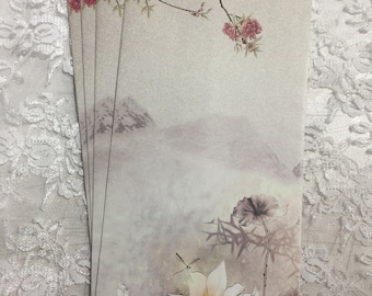 Beautiful Scenic Japanese Open Ended Envelopes ( Set of 5 ) Stationery, Gift Envelopes, Junk Journals, Scrapbooks