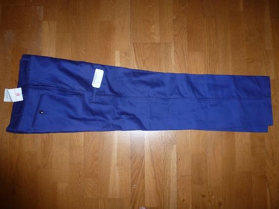 Blue vintage 1930/50 moleskine indigo workwear pants 8FCF9