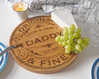 Camembert Cheese board - Personalised Oak Cutting Board - Oak Cutting Board - Chopping Board - Wedding gift - Personalized Housewarming gift