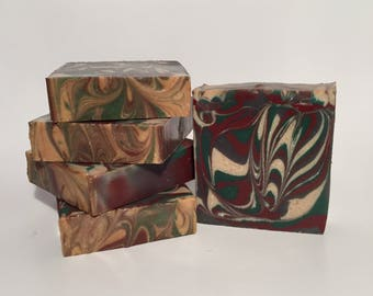 Cedar and Saffron Soap, Cold Process Soap, Homemade Soap, Handmade Soap, Vegan Soap