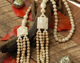 """28"""" - 30"""" Fossil Coral Never Ending Necklace"""