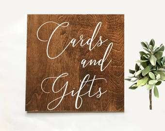 Gifts and Cards Wood Wedding Signs | Cards and Gifts Wooden Wedding Sign | Gifts Rustic Wedding Sign | Wood Card Sign | Gifts Signage