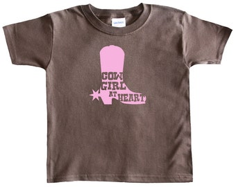 Cowgirl at Heart Cowgirl Boot Baby T-shirt for Girls