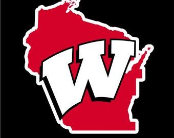 Wisconsin Badgers Decal, Wisconsin Badgers Sticker,