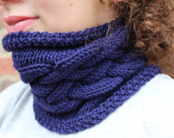 KNITTING PATTERN Cable Cowl Pattern Double Dutch Ideal for Beginners Accessory Neck Scarf Infinity