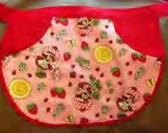 Strawberry Shortcakes - Apron for kids, Gathering Apron, Clothespin Apron