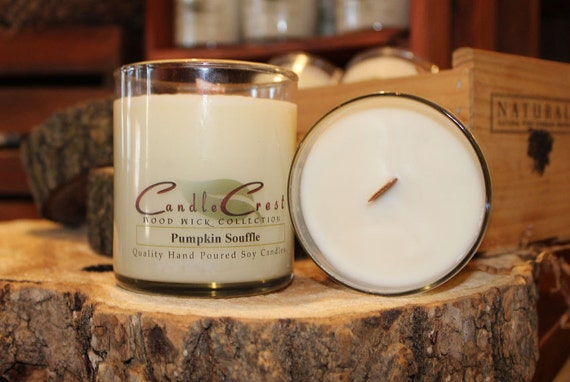 Wood Wick Candles Natural Soy Wax Wooden Wick Scented