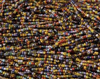 Vintage Glass Assorted Czech Traded into Ghana Seed Beads - SEED 218