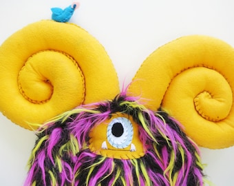 Zachary - Handmade plush monster doll