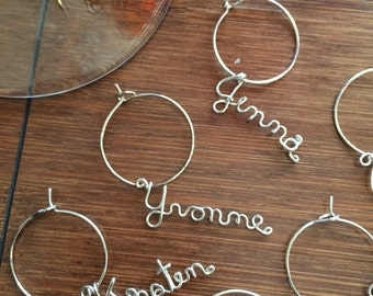 Personalized Name for Wine Glass - Single 1 wine charm ready to ship